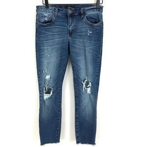 STS Blue Piper skinny ankle jeans mid rise holes